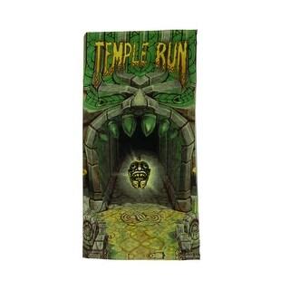 Temple Run Idol Cotton Terry Beach Towel - Green