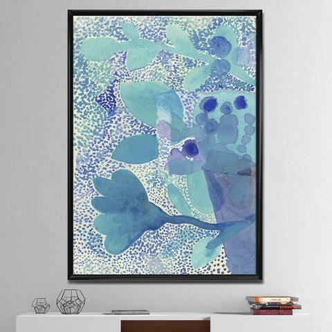 Designart 'Sea Garden Impression' Mid-Century Modern Framed Canvas Artwork Print