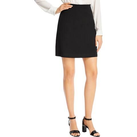 Kobi Halperin Womens Eve A-Line Skirt Solid High-Waisted - Black