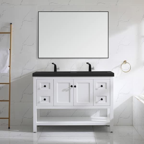 Winslow 48 Double Bathroom Vanity Set Overstock 33303845