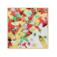 Pack of 6 Red, Gold and Green Holiday Cheer New Years Celebration Confetti Bags 0.5 oz.