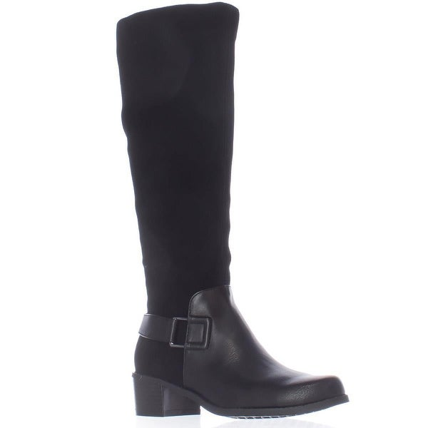 Aerosoles After Hours Riding Boots, Black Combo