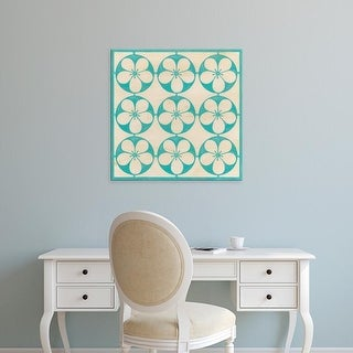 Easy Art Prints June Erica Vess's 'Floral Trellis III' Premium Canvas Art