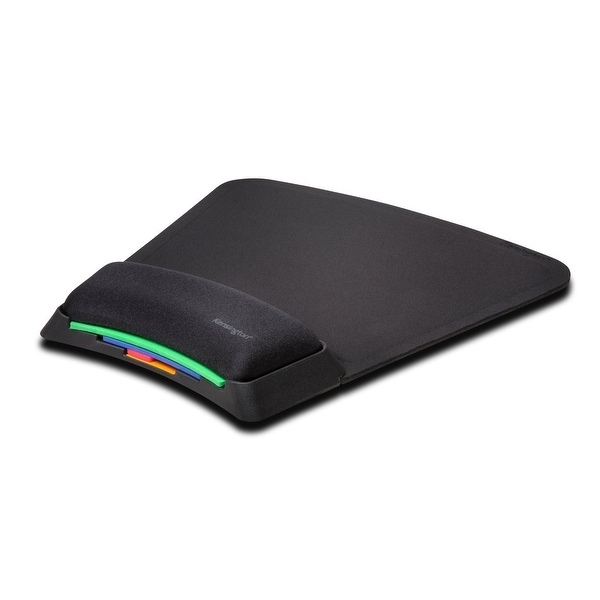 Kensington K55793am Smartfit Mouse Pad Stacked With Wrist Support, Black