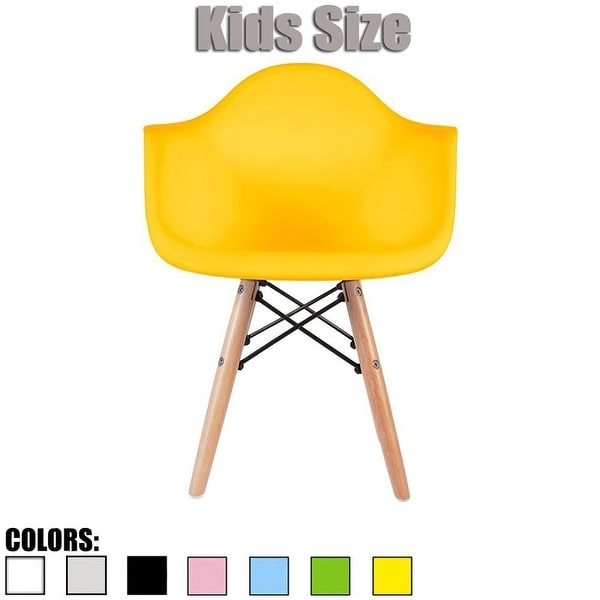 2xhome Modern Kids Chair Armchair With ArmColors with Natural Wood Legs