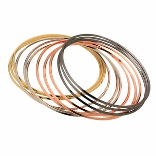 Women's Metallic Bangles By The Dozen - Set Of 12