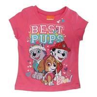 Nickelodeon Little Girls Pink Paw Patrol Short Sleeve Cotton T-shirt
