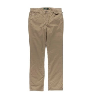 LRL Lauren Jeans Co. Womens Straight Flat Front Khaki Pants