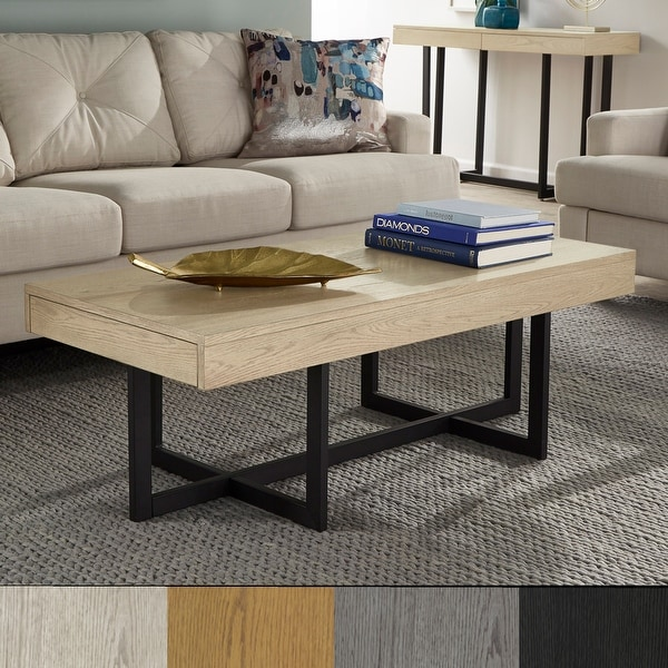 Eldersley Wood Finish Coffee Table with Two Drawers by iNSPIRE Q Modern. Opens flyout.