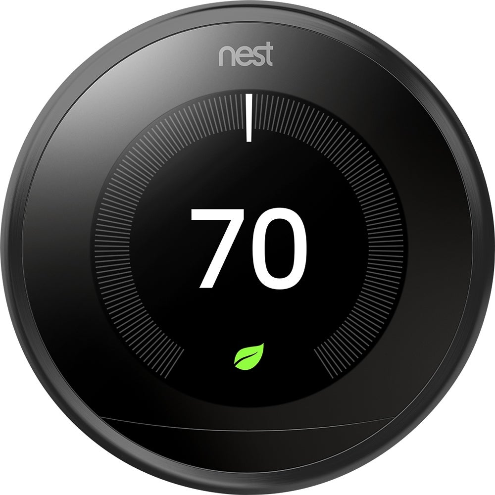 Nest (T3016US) Learning Thermostat, Easy Temperature Control, Black (Third Generation)