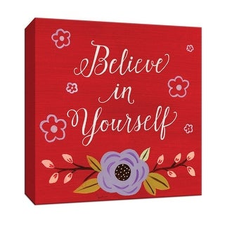 "PTM Images 9-147486  PTM Canvas Collection 12"" x 12"" - ""Believe in Yourself"" Giclee Sayings & Quotes Art Print on Canvas"