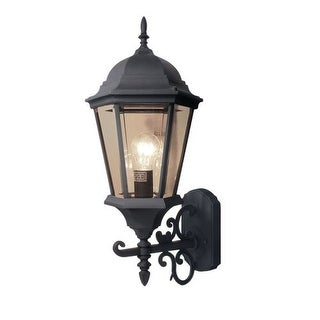 Woodbridge Lighting 61014-BKP 1 Light Outdoor Wall Sconce with Clear Glass from the Basic Outdoor Collection
