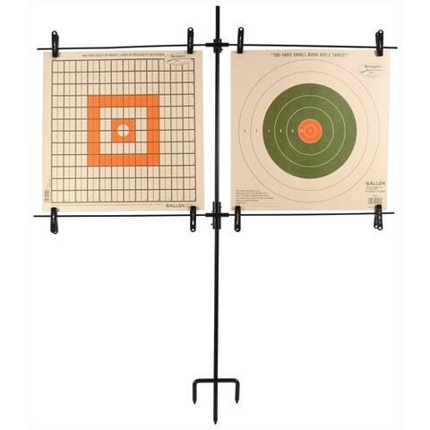 Allen 1529 allen paper target stand includes 8 clips/steel frame<