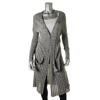 Free People Womens Heathered Raglan Sleeves Cardigan Sweater
