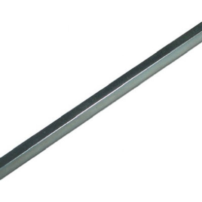 SteelWorks 11172 Square Key Stock, 1/8 x 12, Zinc Plated