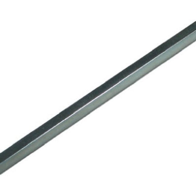 SteelWorks 11174 Square Key Stock, 1/4 x 12, Zinc Plated