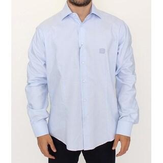 Cavalli Light blue cotton shirt