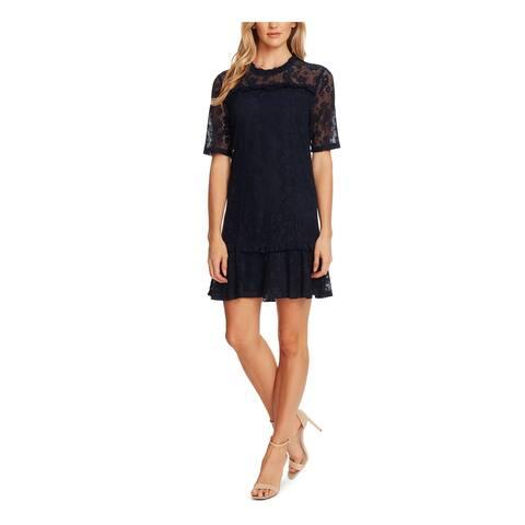 CECE Navy Short Sleeve Short Dress 10