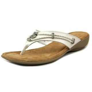 Minnetonka Silverthorne Women N/S Open Toe Leather White Thong Sandal