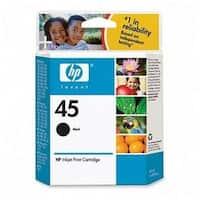 HP 45 Black Ink Cartridge - 833 Page - Black - Package: 1 Retail
