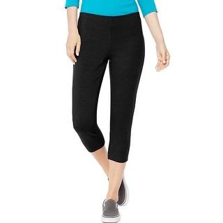 Hanes Women's Stretch Jersey Capri - Size - L - Color - Black