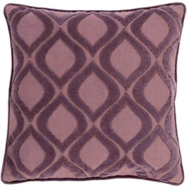 """20"""" Rose Mauve and Deep Lilac Decorative Throw Pillow"""