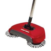 Turbo Tiger Sweeper - Hard Floor Rotating Brush Broom - 14 in. x 8 in. x 45 in.