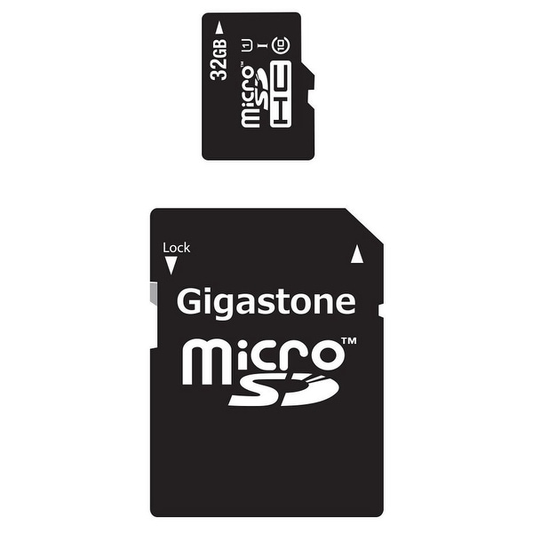 Gigastone 2-in-1 32GB MicroSD Mobile Kit With SD Adapter Solution