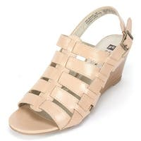 White Mountain Womens corkscrew Open Toe Special Occasion Platform Sandals