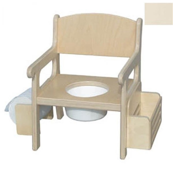 Little Colorado Handcrafted Potty Chair with Accessories in Linen