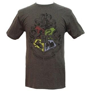 Harry Potter Hogwart Crest Mens Short Sleeve Shirt