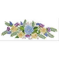 """Tobin Stamped For Embroidery Pillowcase Pair 20""""X30""""-Floral Fantasy"""