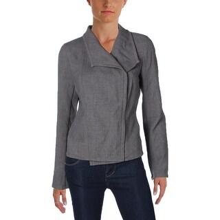 Tommy Hilfiger Womens Moto Coat Full Zip Long Sleeve