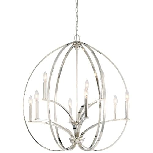 Minka Lavery 4989-613 9 Light Two Tier Chandelier from the Tilbury Collection