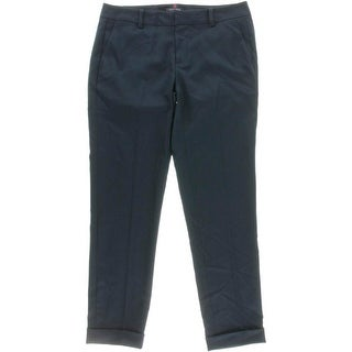 Tommy Hilfiger Womens Cuffed Ankle Chino Pants