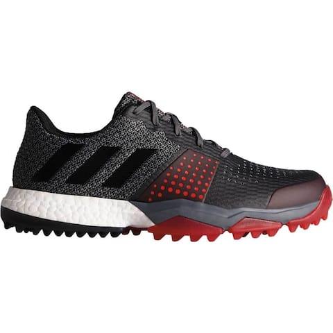 Adidas Men's Adipower Sport Boost 3 Onix/Core Black/Scarlet Golf Shoes Q44778-AC8308
