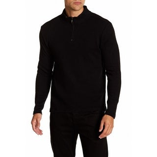Robert Barakett NEW Black Mens Size Medium M Quarter Zip Sweater