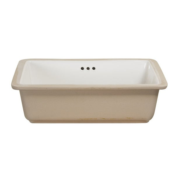 """Foremost 14-1713 19-7/8"""" Rectangular Vitreous China Undermount Bathroom Sink with Overflow - White"""