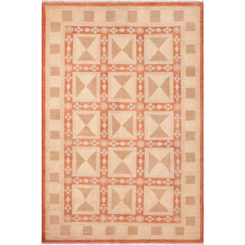 """Bohemien Ziegler Nancie Hand Knotted Area Rug -6'2"""" x 8'8"""" - 6 ft. 2 in. X 8 ft. 8 in."""