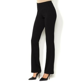 Iman NEW Black Womens Size Large L Slim Perfect Ponte Boot-Cut Pants