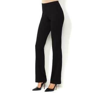 Iman NEW Black Womens Size XL Perfect Ponte Bootcut Pull-On Pants https://ak1.ostkcdn.com/images/products/is/images/direct/86fe25dcd6409e559446095e0d39add59b12d35a/Iman-NEW-Black-Womens-Size-XL-Perfect-Ponte-Bootcut-Pull-On-Pants.jpg?impolicy=medium