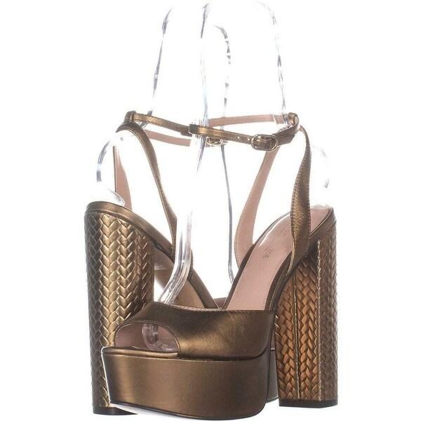 bbecf0ceccb5 Shop Rachel Zoe Womens Claire platform Peep Toe Ankle Strap Platform ...