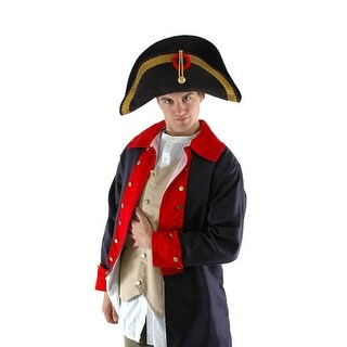 Napoleon Bonaparte Bicorn Black Military Hat Adult Costume Accessory One Size