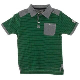 U.S. Polo Assn. Boys Colorblock Striped Polo Shirt - 8