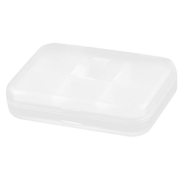 Household Plastic Square Shaped 6 Compartments Capsule Pills Box Case White