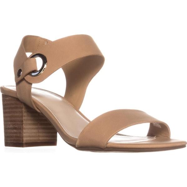 B35 Birdie Block Heel Dress Sandals, Dark Croissant