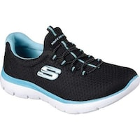 Skechers Women's Summits Training Sneaker Black/Turquoise