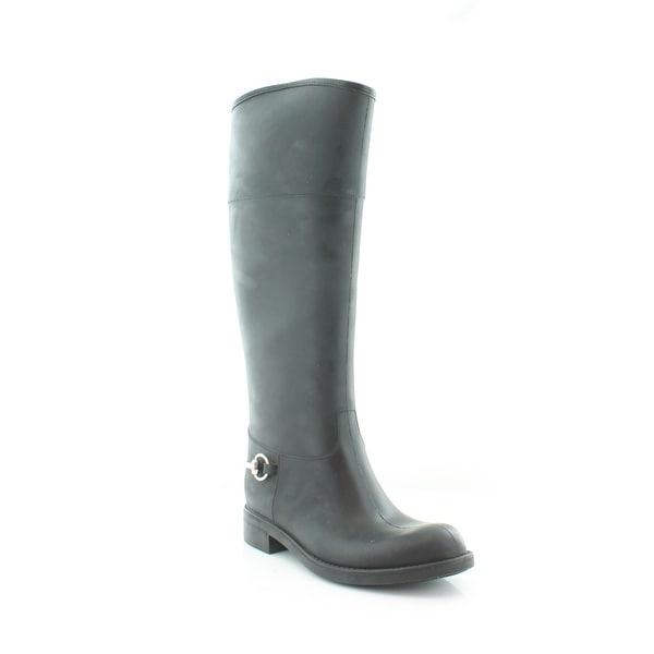 Gucci Rubber Rain Boot Women's Boots Nero/Nero