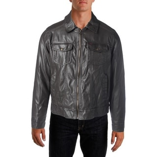 Levi's Mens Faux Leather Insulated Coat - M