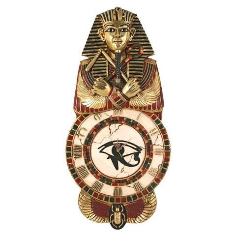 Design Toscano Medinet Habu Sculptural Egyptian Wall Clock